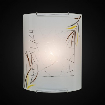 Настенный светильник Citilux Ива CL921009, 1xE27x100W, хром, белый, металл, стекло - миниатюра 2