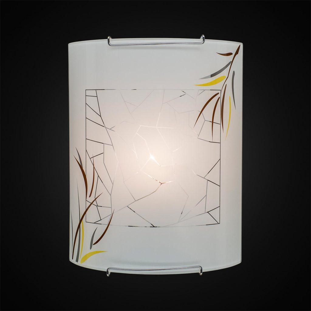 Настенный светильник Citilux Ива CL921009, 1xE27x100W, хром, белый, металл, стекло - фото 2
