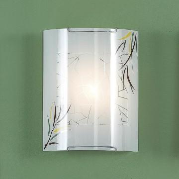 Настенный светильник Citilux Ива CL921009, 1xE27x100W, хром, белый, металл, стекло - миниатюра 3