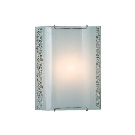 Настенный светильник Citilux Вьюнок CL921010, 1xE27x100W, хром, белый, металл, стекло