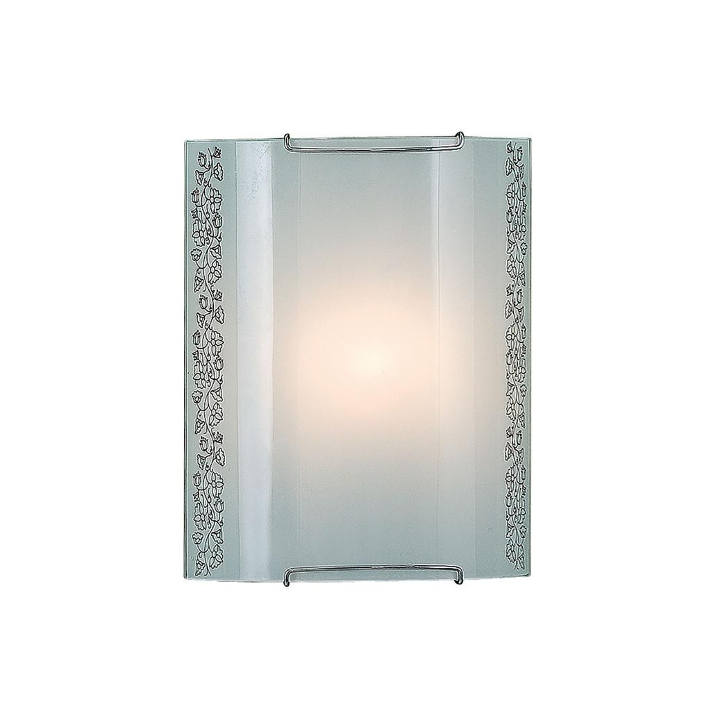 Настенный светильник Citilux Вьюнок CL921010, 1xE27x100W, хром, белый, металл, стекло - фото 1