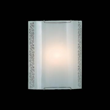 Настенный светильник Citilux Вьюнок CL921010, 1xE27x100W, хром, белый, металл, стекло - миниатюра 2