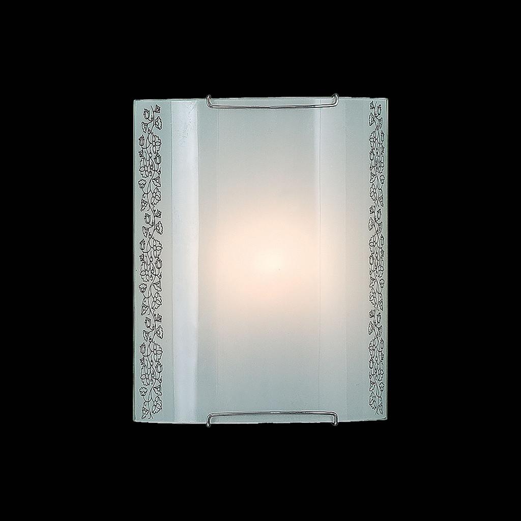 Настенный светильник Citilux Вьюнок CL921010, 1xE27x100W, хром, белый, металл, стекло - фото 2