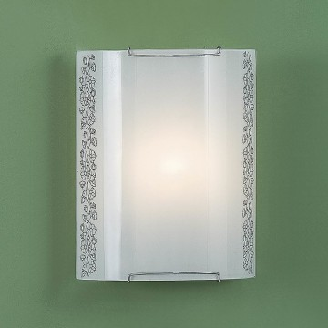 Настенный светильник Citilux Вьюнок CL921010, 1xE27x100W, хром, белый, металл, стекло - миниатюра 3