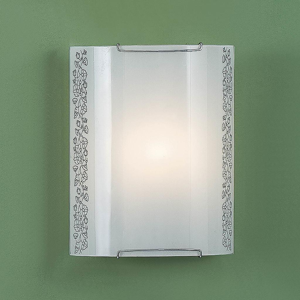 Настенный светильник Citilux Вьюнок CL921010, 1xE27x100W, хром, белый, металл, стекло - фото 3