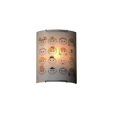Настенный светильник Citilux Смайлики CL921016, 1xE27x100W, хром, разноцветный, металл, стекло - миниатюра 1