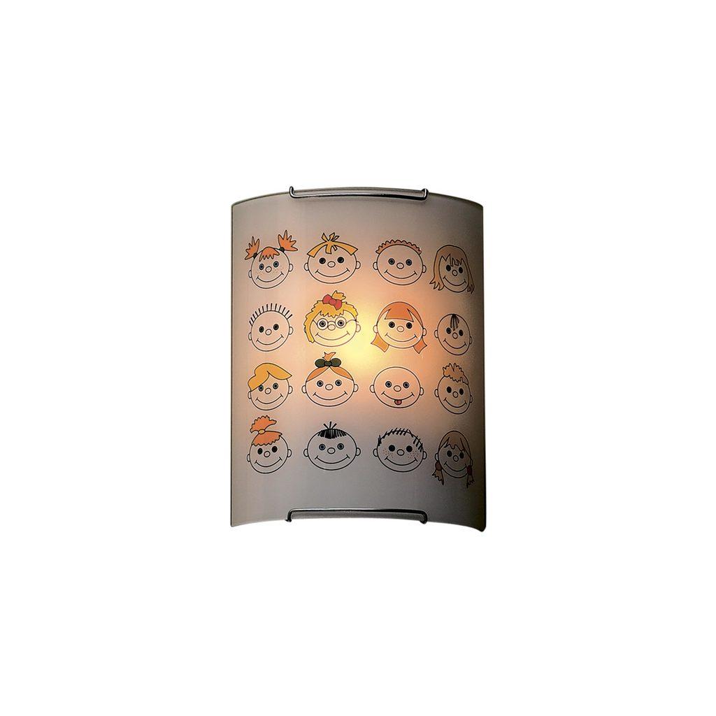 Настенный светильник Citilux Смайлики CL921016, 1xE27x100W, хром, разноцветный, металл, стекло - фото 1