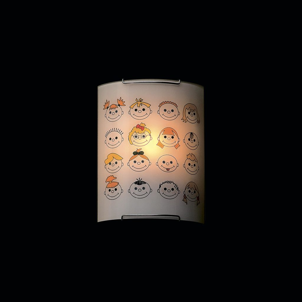 Настенный светильник Citilux Смайлики CL921016, 1xE27x100W, хром, разноцветный, металл, стекло - фото 2