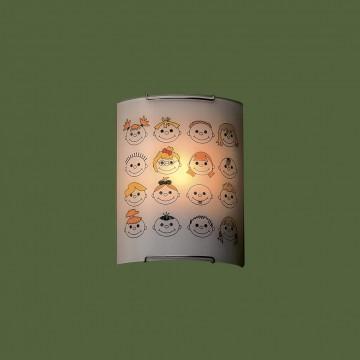 Настенный светильник Citilux Смайлики CL921016, 1xE27x100W, хром, разноцветный, металл, стекло - миниатюра 3