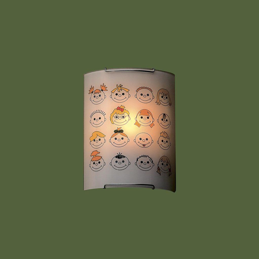 Настенный светильник Citilux Смайлики CL921016, 1xE27x100W, хром, разноцветный, металл, стекло - фото 3