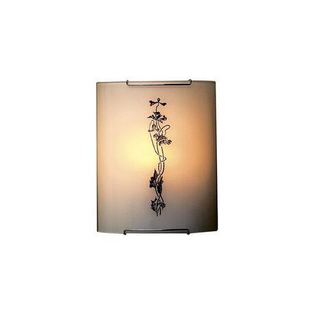 Настенный светильник Citilux Маки CL921019, 1xE27x100W, хром, белый, коричневый, металл, стекло - миниатюра 1