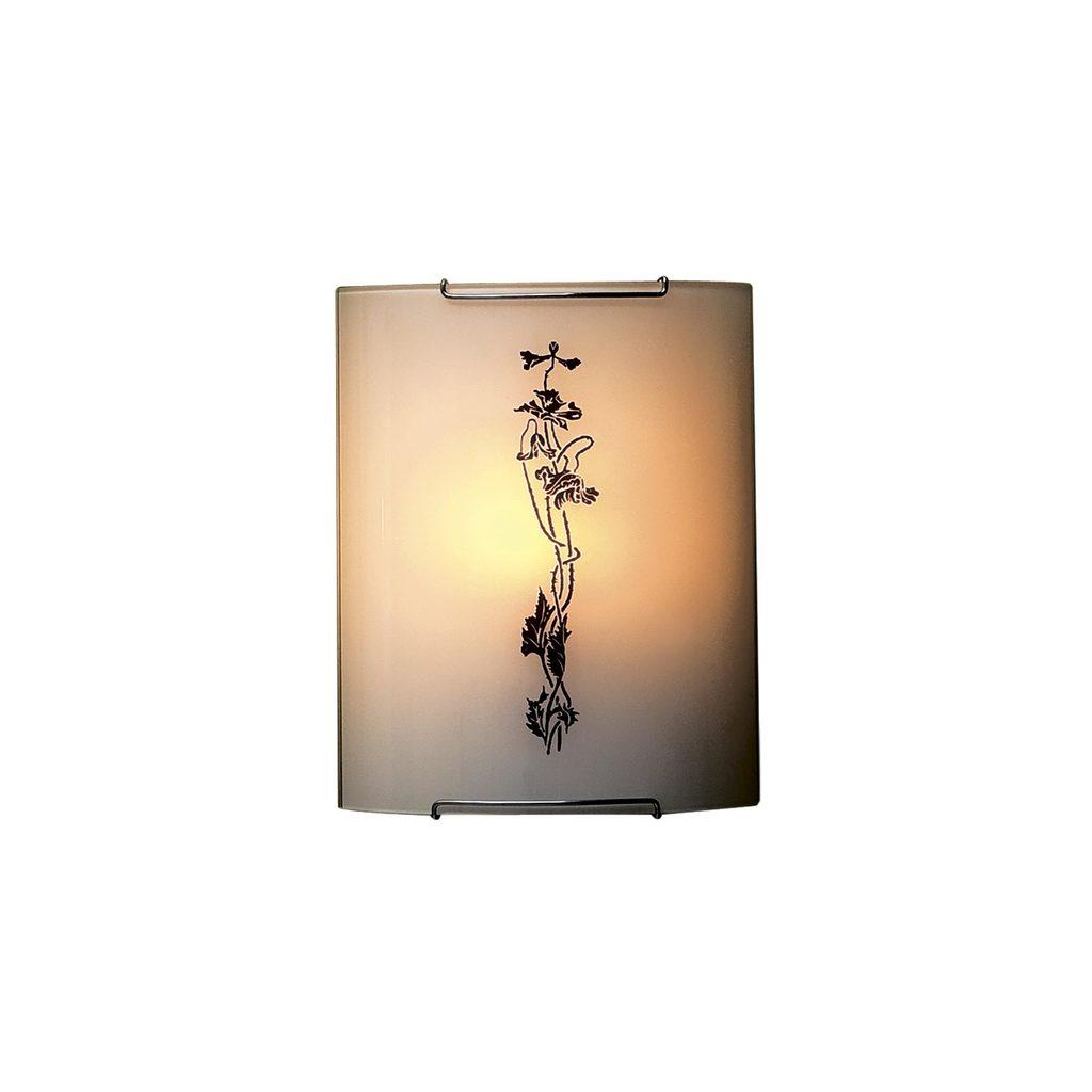 Настенный светильник Citilux Маки CL921019, 1xE27x100W, хром, белый, коричневый, металл, стекло - фото 1