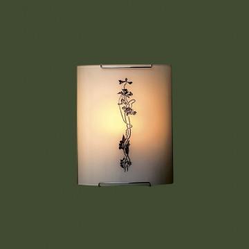 Настенный светильник Citilux Маки CL921019, 1xE27x100W, хром, белый, коричневый, металл, стекло - миниатюра 3