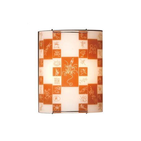 Настенный светильник Citilux Доминикана CL921020, 1xE27x100W, хром, оранжевый, металл, стекло
