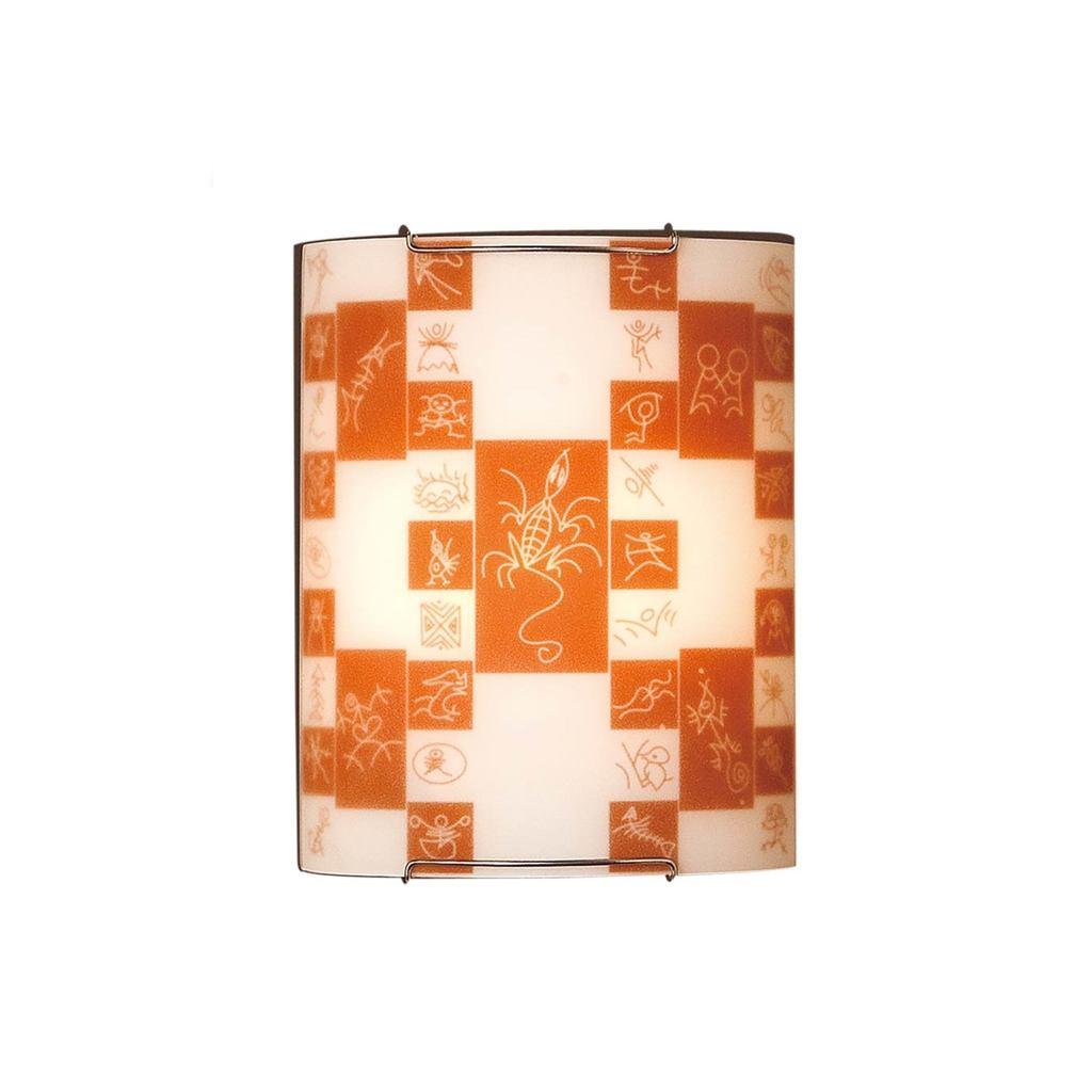Настенный светильник Citilux Доминикана CL921020, 1xE27x100W, хром, оранжевый, металл, стекло - фото 1