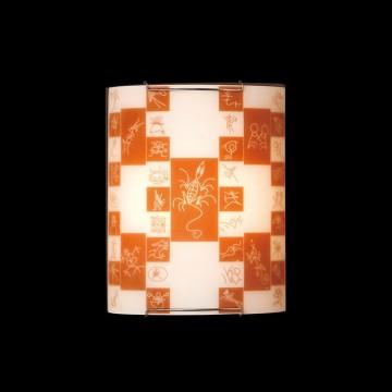 Настенный светильник Citilux Доминикана CL921020, 1xE27x100W, хром, оранжевый, металл, стекло - миниатюра 2