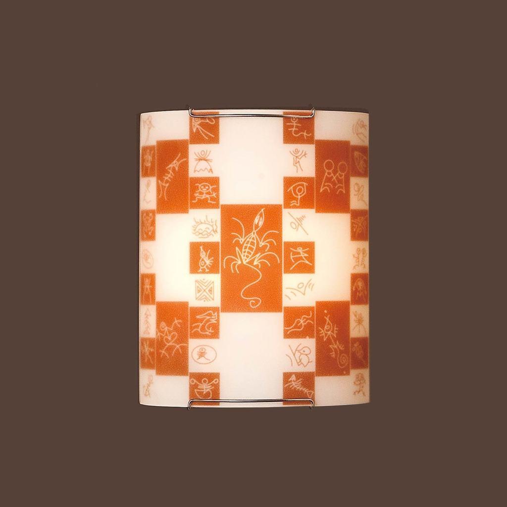 Настенный светильник Citilux Доминикана CL921020, 1xE27x100W, хром, оранжевый, металл, стекло - фото 3