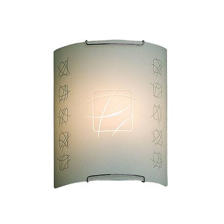 Настенный светильник Citilux Дина CL921021, 1xE27x100W, хром, белый, металл, стекло
