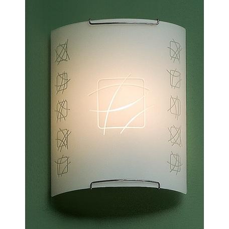 Настенный светильник Citilux Дина CL921021W, 1xE27x100W, хром, белый, металл, стекло