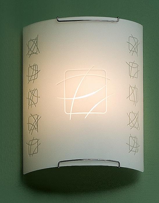 Настенный светильник Citilux Дина CL921021W, 1xE27x100W, хром, белый, металл, стекло - фото 1
