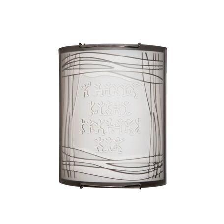 Настенный светильник Citilux Шерлок CL921022, 1xE27x100W, хром, белый, металл, стекло