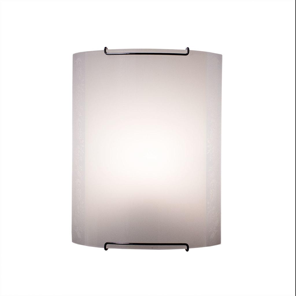 Настенный светильник Citilux Узор CL921024, 1xE27x100W, хром, белый, металл, стекло - фото 1