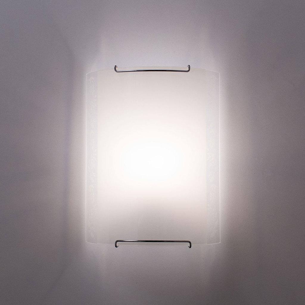 Настенный светильник Citilux Узор CL921024, 1xE27x100W, хром, белый, металл, стекло - фото 2