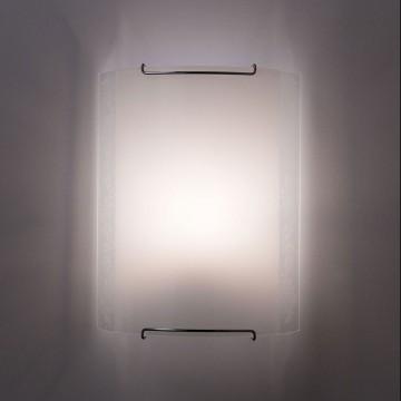 Настенный светильник Citilux Узор CL921024, 1xE27x100W, хром, белый, металл, стекло - миниатюра 5