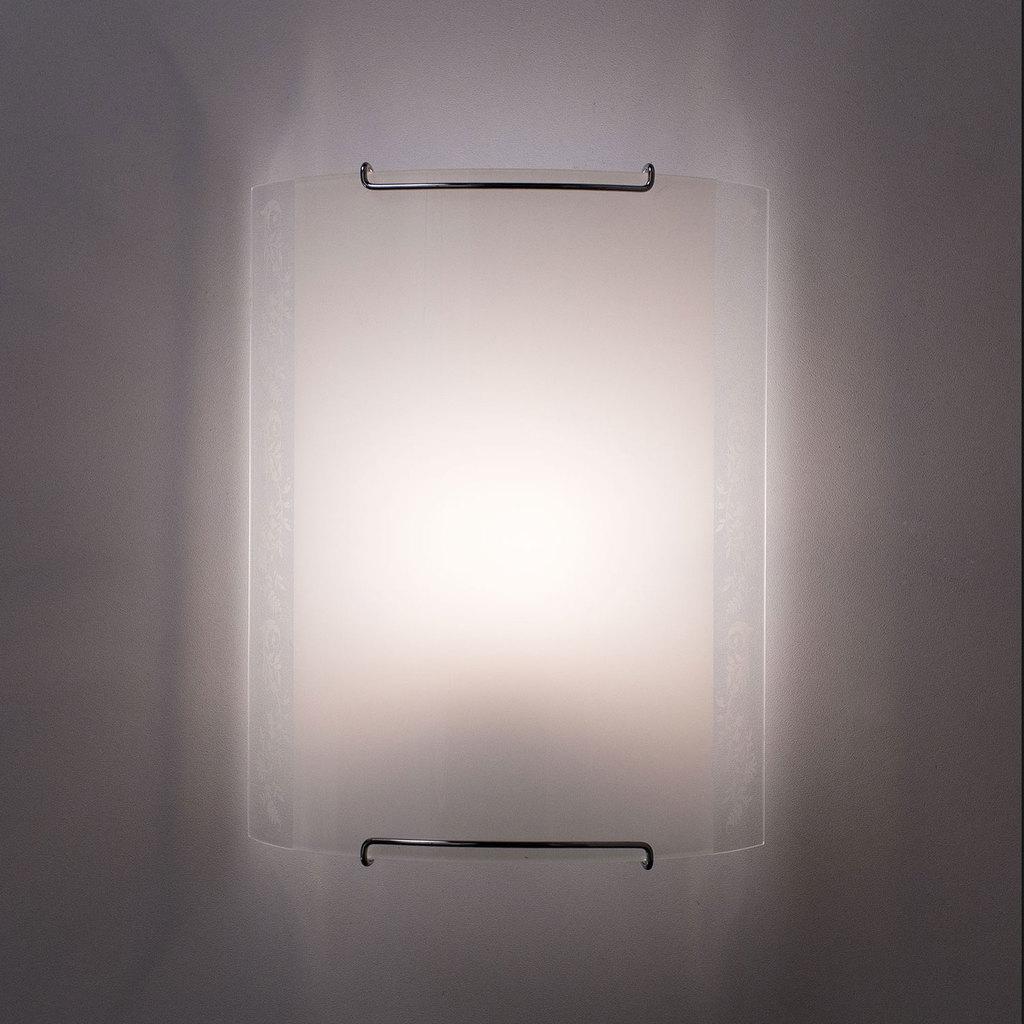 Настенный светильник Citilux Узор CL921024, 1xE27x100W, хром, белый, металл, стекло - фото 5