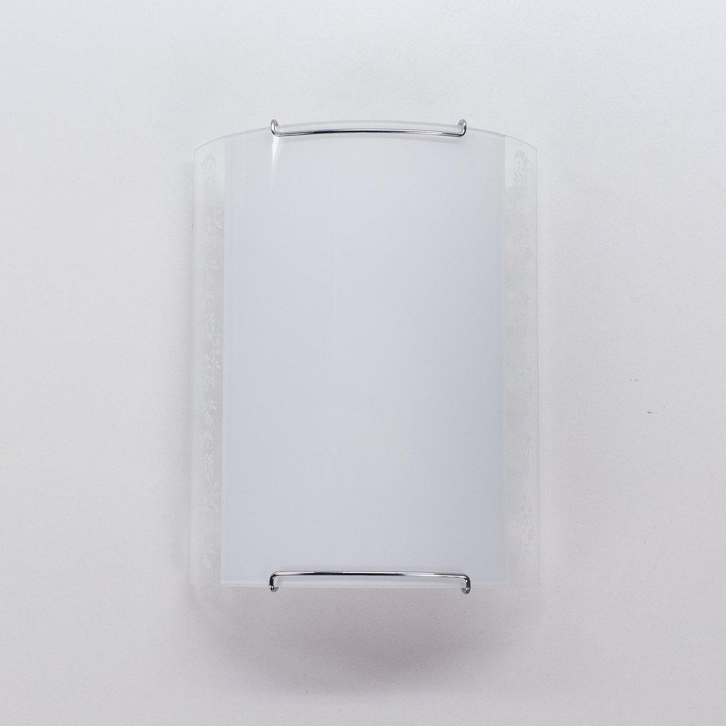 Настенный светильник Citilux Узор CL921024, 1xE27x100W, хром, белый, металл, стекло - фото 6