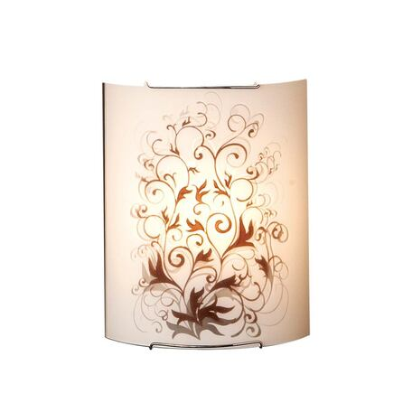 Настенный светильник Citilux Вега CL921025, 1xE27x100W, хром, коричневый, металл, стекло