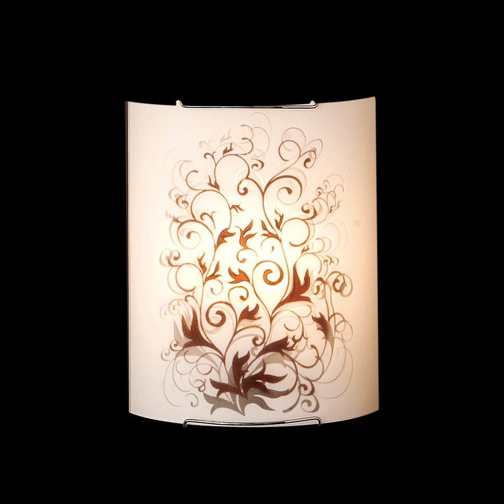 Настенный светильник Citilux Вега CL921025, 1xE27x100W, хром, коричневый, металл, стекло - фото 2