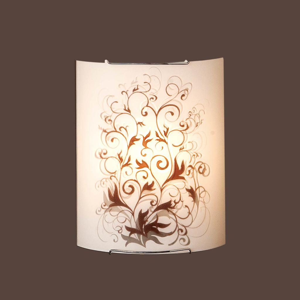 Настенный светильник Citilux Вега CL921025, 1xE27x100W, хром, коричневый, металл, стекло - фото 3