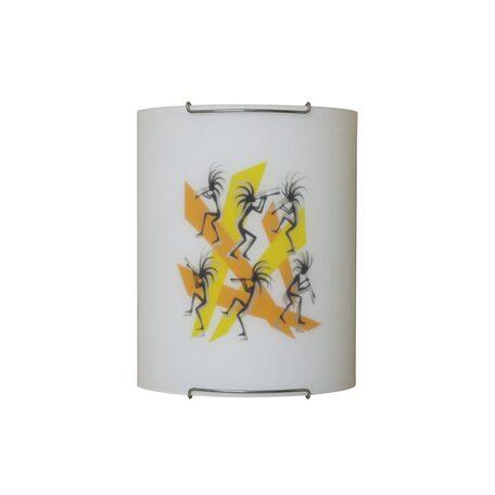 Настенный светильник Citilux Диско CL921027, 1xE27x100W, хром, разноцветный, металл, стекло
