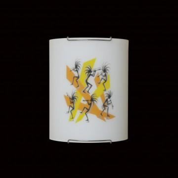 Настенный светильник Citilux Диско CL921027, 1xE27x100W, хром, разноцветный, металл, стекло - миниатюра 2