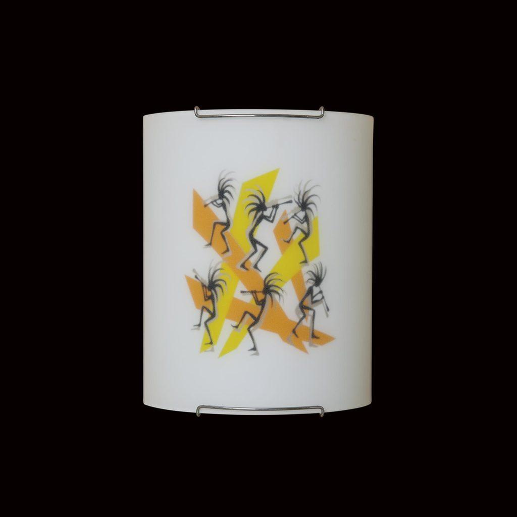 Настенный светильник Citilux Диско CL921027, 1xE27x100W, хром, разноцветный, металл, стекло - фото 2