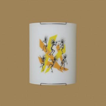 Настенный светильник Citilux Диско CL921027, 1xE27x100W, хром, разноцветный, металл, стекло - миниатюра 3