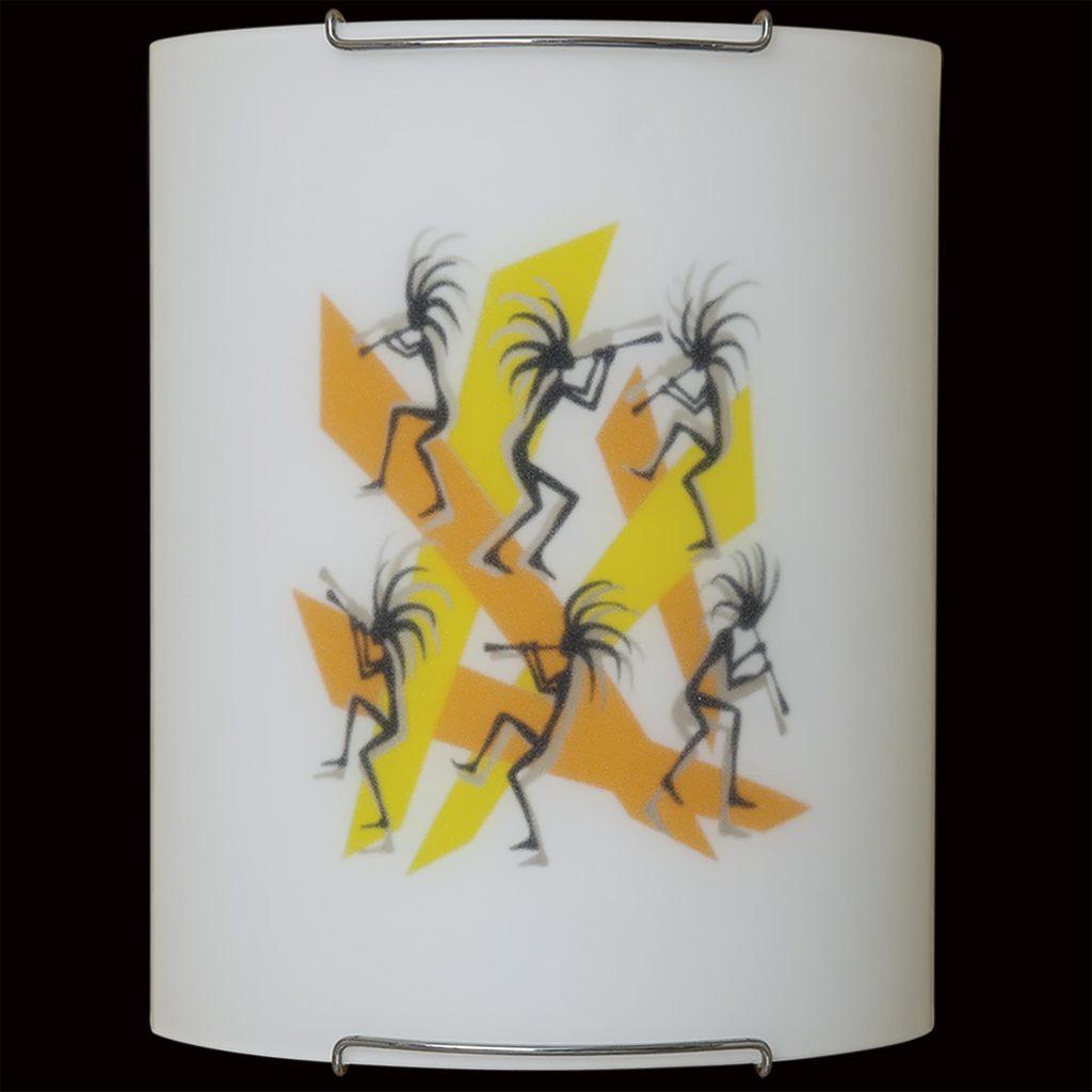 Настенный светильник Citilux Диско CL921027, 1xE27x100W, хром, разноцветный, металл, стекло - фото 4
