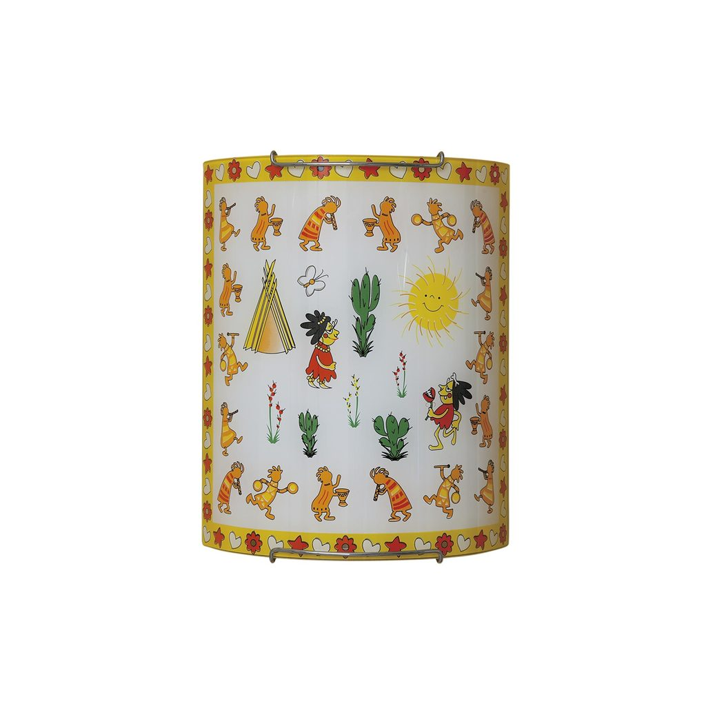 Настенный светильник Citilux Праздник CL921028, 1xE27x100W, хром, разноцветный, металл, стекло - фото 1