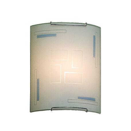 Настенный светильник Citilux Домино CL921031, 1xE27x100W, хром, белый, металл, стекло