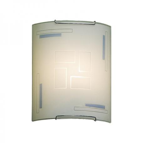 Настенный светильник Citilux Домино CL921031W, 1xE27x100W, хром, белый, металл, стекло