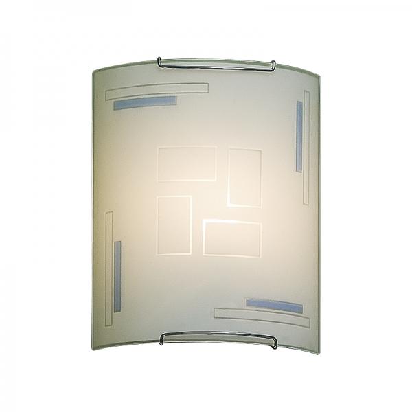 Настенный светильник Citilux Домино CL921031W, 1xE27x100W, хром, белый, металл, стекло - фото 1