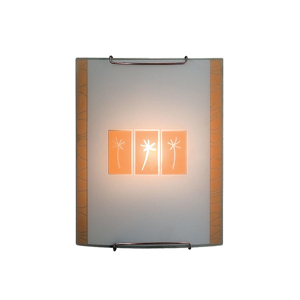 Настенный светильник Citilux Гоби CL921041, 1xE27x100W, хром, желтый, металл, стекло - фото 1