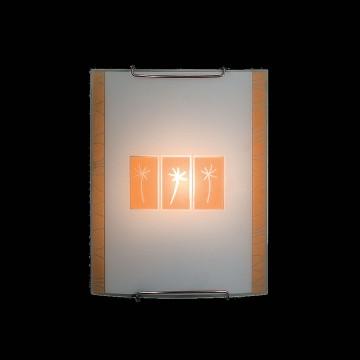 Настенный светильник Citilux Гоби CL921041, 1xE27x100W, хром, желтый, металл, стекло - миниатюра 2