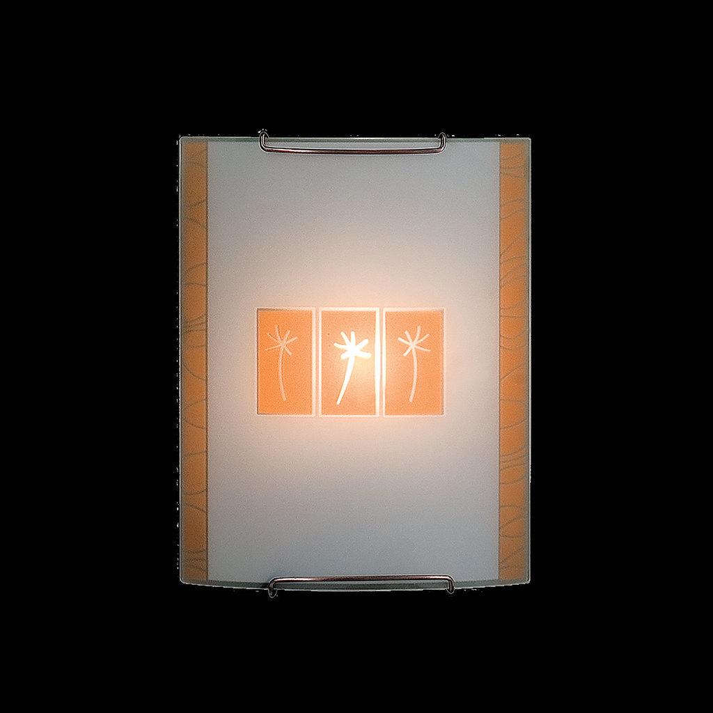 Настенный светильник Citilux Гоби CL921041, 1xE27x100W, хром, желтый, металл, стекло - фото 2