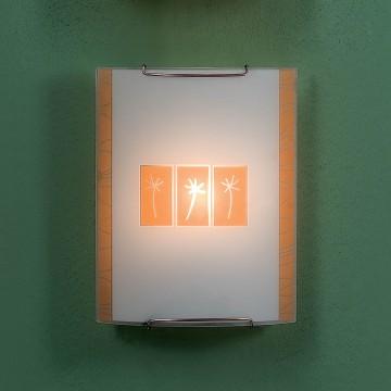Настенный светильник Citilux Гоби CL921041, 1xE27x100W, хром, желтый, металл, стекло - миниатюра 3
