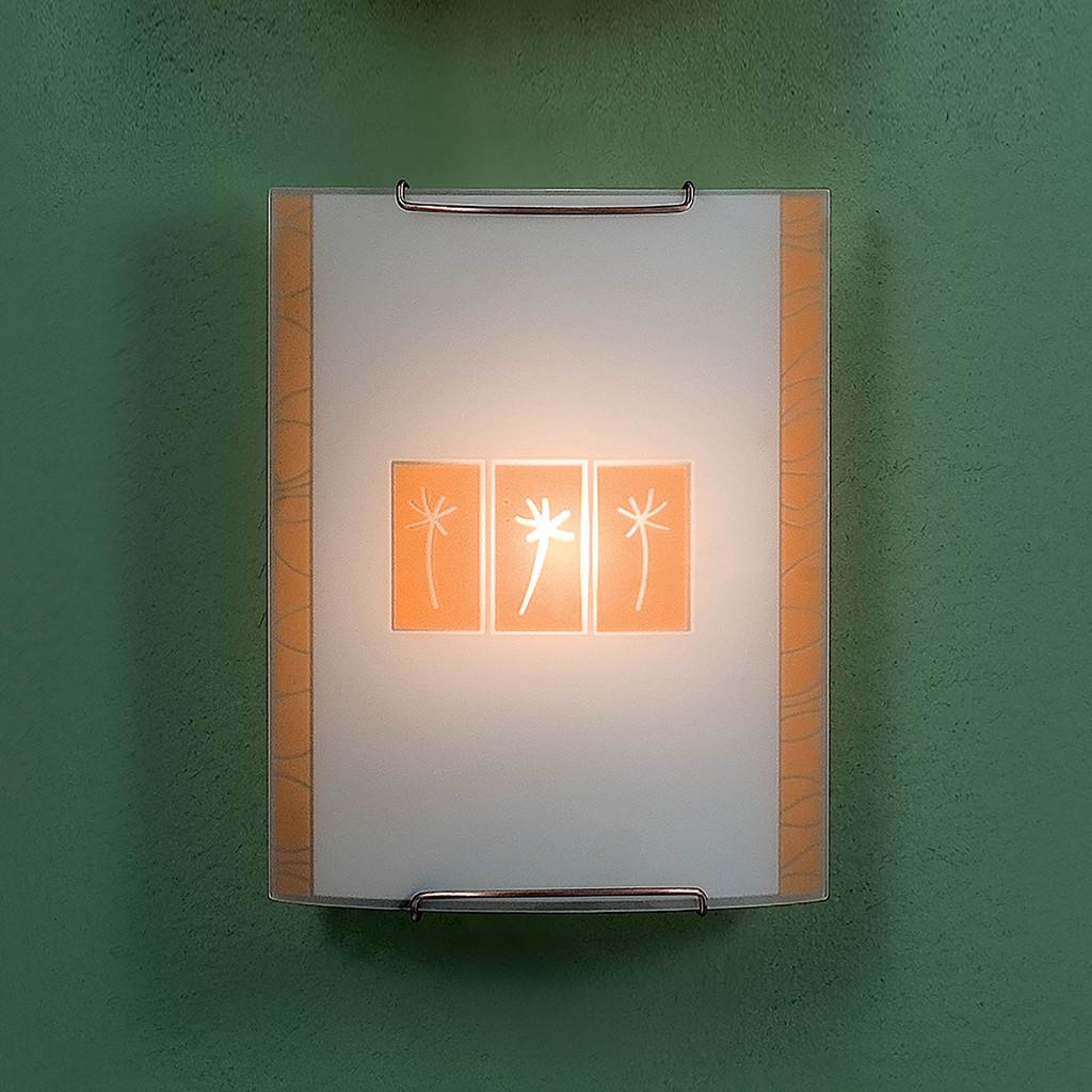 Настенный светильник Citilux Гоби CL921041, 1xE27x100W, хром, желтый, металл, стекло - фото 3