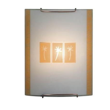 Настенный светильник Citilux Гоби CL921041W, 1xE27x100W, хром, желтый, металл, стекло