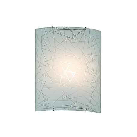 Настенный светильник Citilux Крона CL921061, 1xE27x100W, хром, белый, металл, стекло