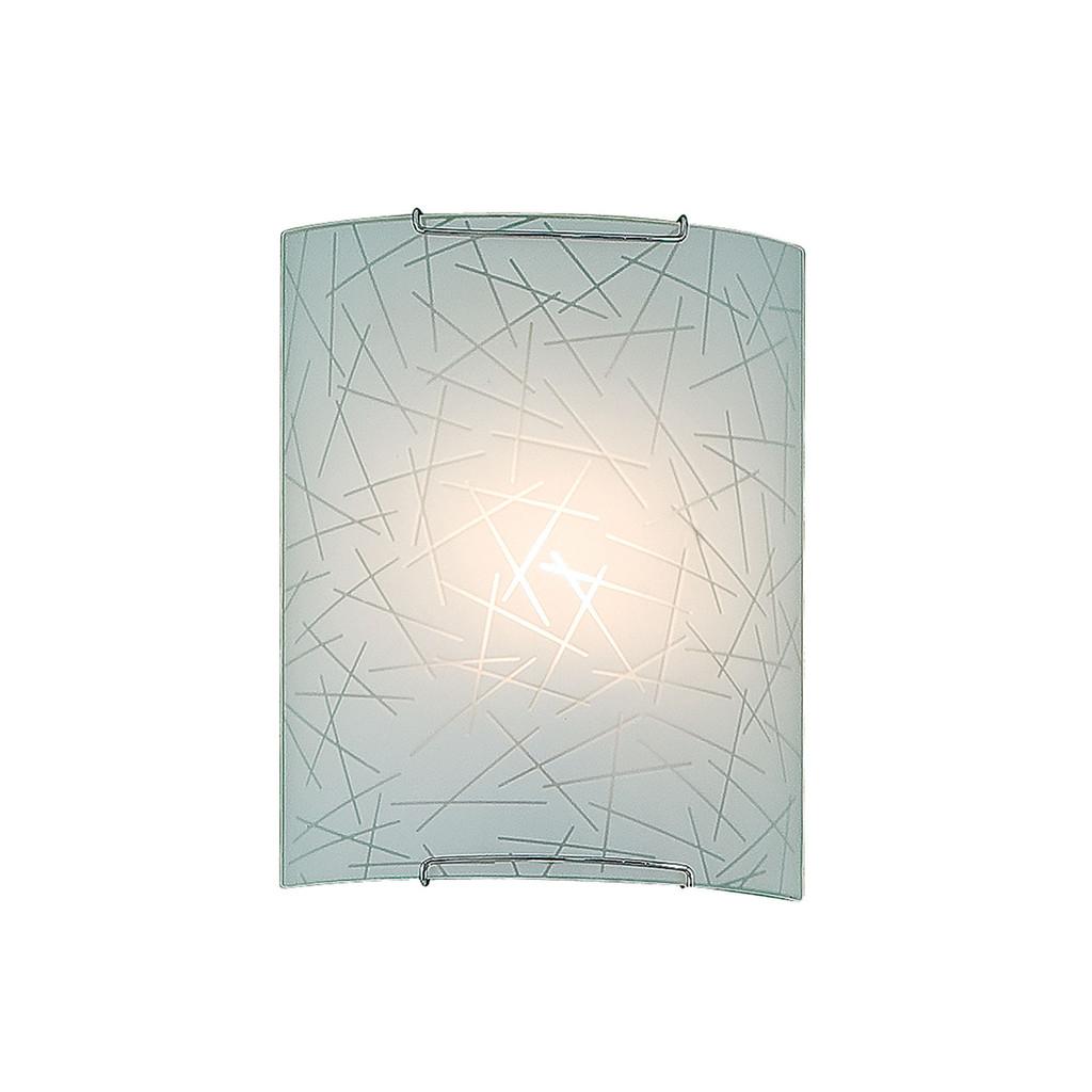 Настенный светильник Citilux Крона CL921061, 1xE27x100W, хром, белый, металл, стекло - фото 1